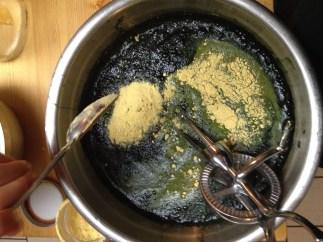 Stirring in the Engivita Yeast + Spirulina