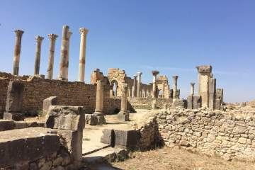 The old Forum Romanum in Volubilis