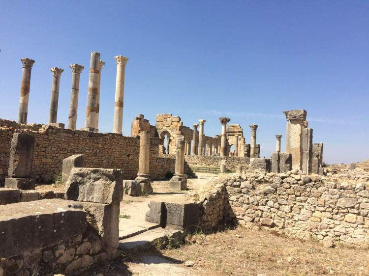 The old Forum Romanum in Volubilis
