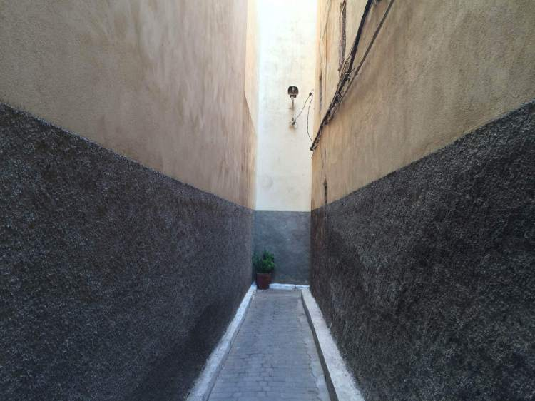 A narrow alleyway in Fez