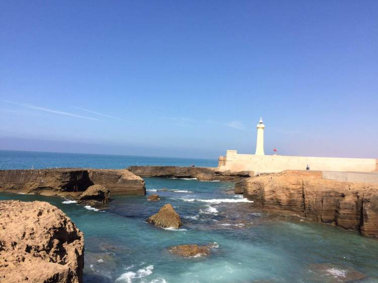 The lighthouse in Rabat, Morocco