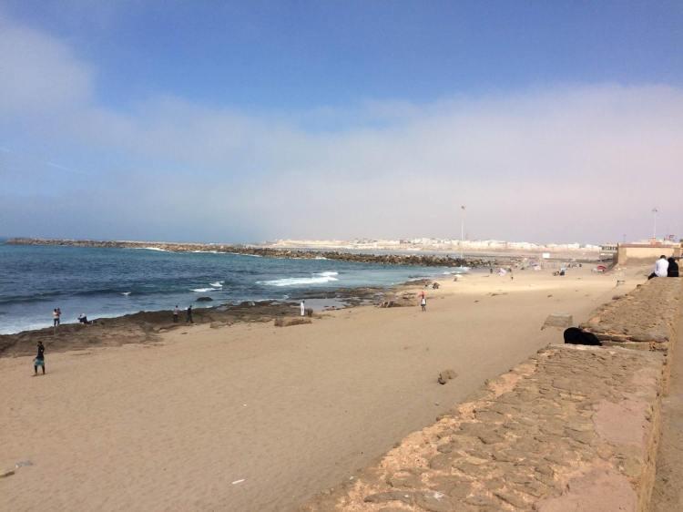 The rocky beach in Rabat, Morocco