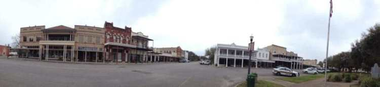 Panoramic Photo of Goliad Town Center