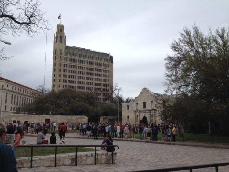 The square in front of Alamo Monument