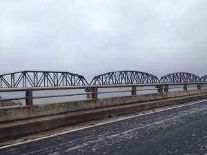 The Amistad Reservoir Railroad Bridge