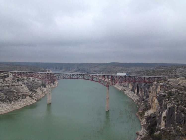 The Pecos Bridge from a distance