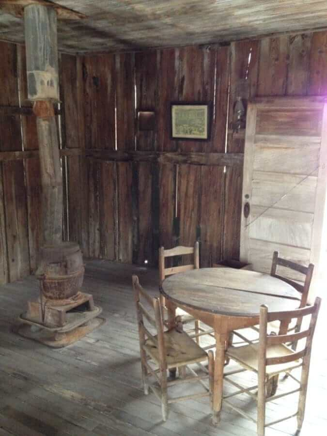 The saloon inside