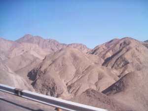 The barren hills around Arequipa