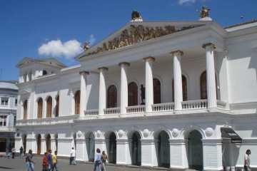 The Main Square in Quito, Ecuador