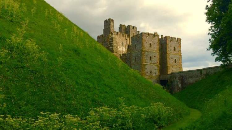 The ditch at Arundel Castle
