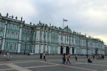 Cycling around St Petersburg