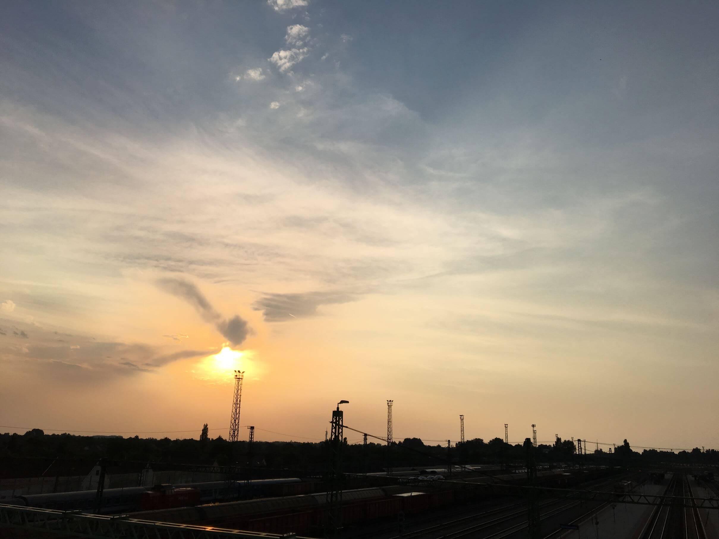 Sunset at Bekescsaba New Bridge