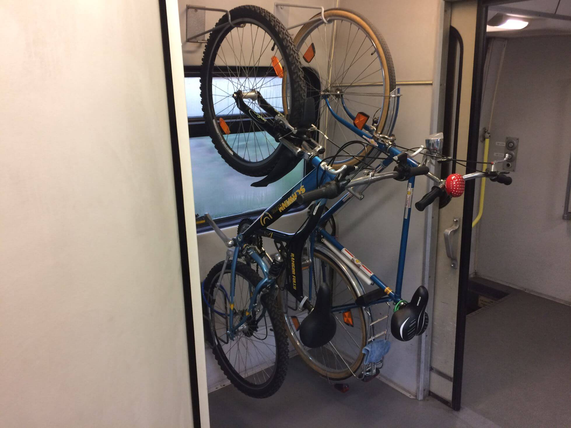 Bike Compartment on Hungarian Train
