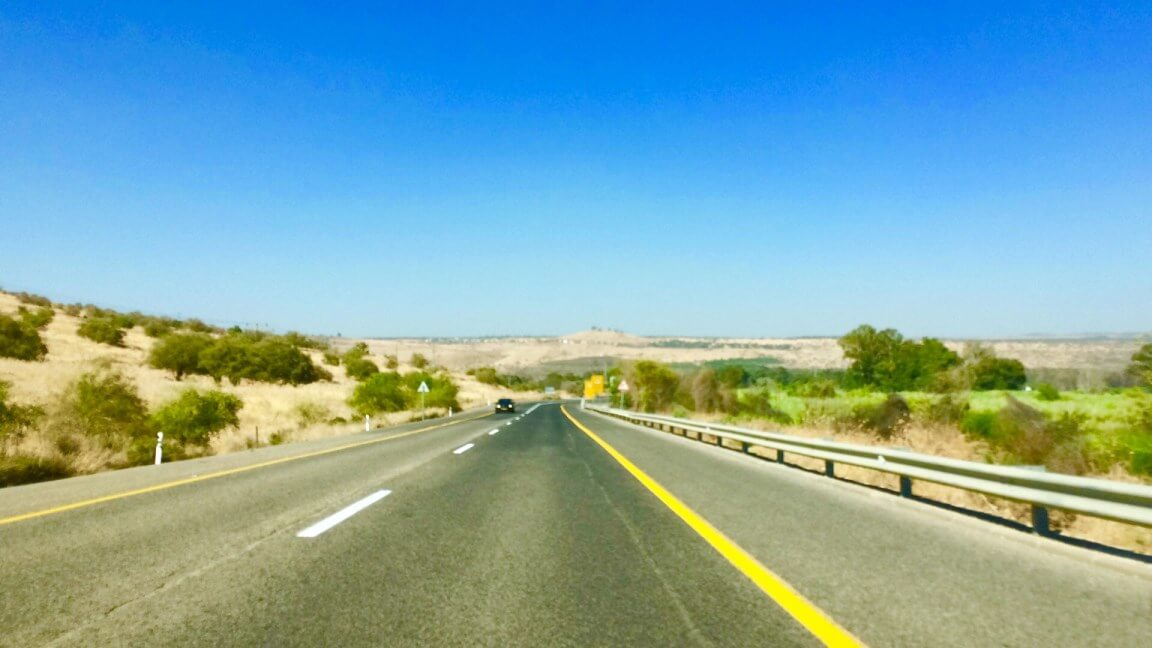 Driving in the north of Israel