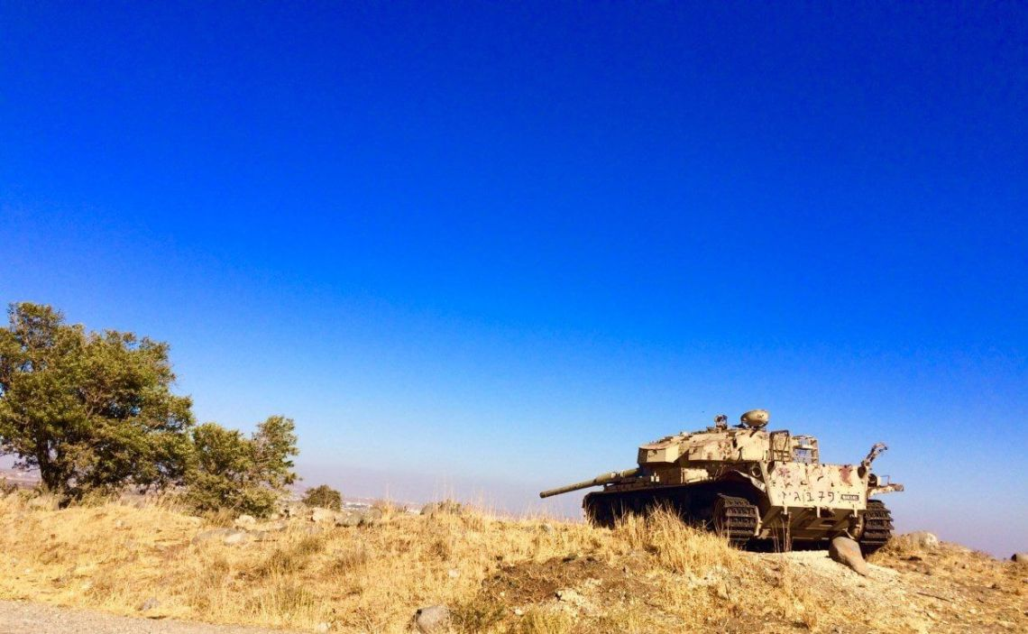 Abandoned Tank in the Golan Heights