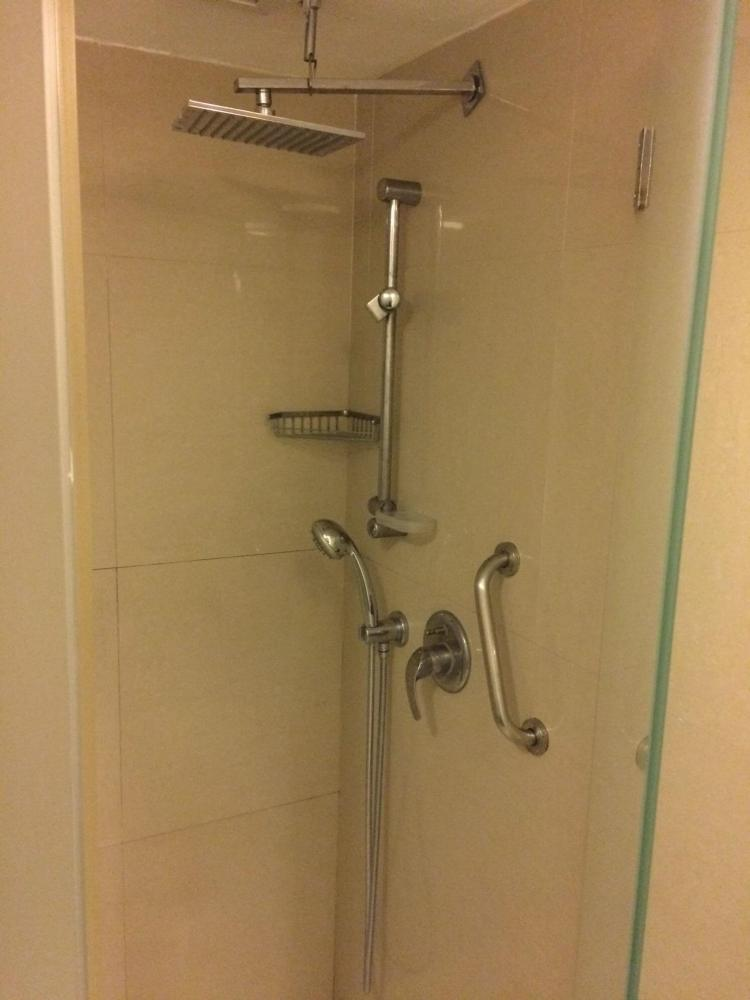 The shower at the gym