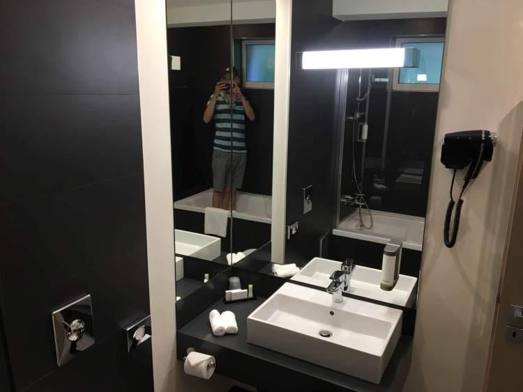 The Bathroom at the Belfort in Brasov