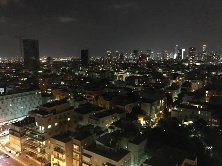 Night-time skyline of Tel Aviv