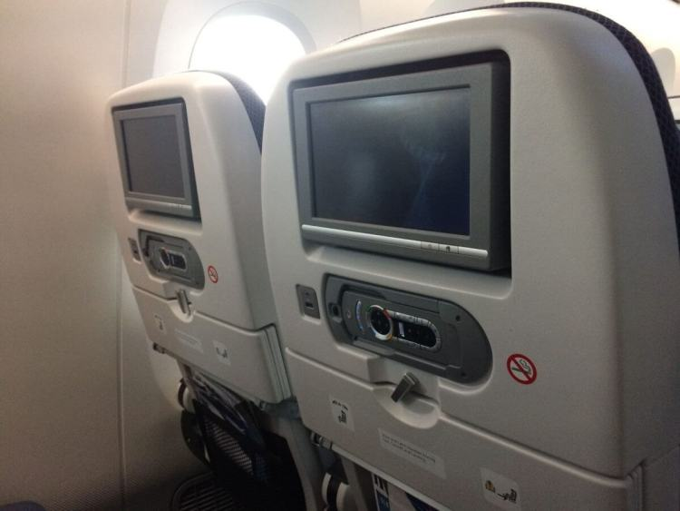 The Back of a BA Seat