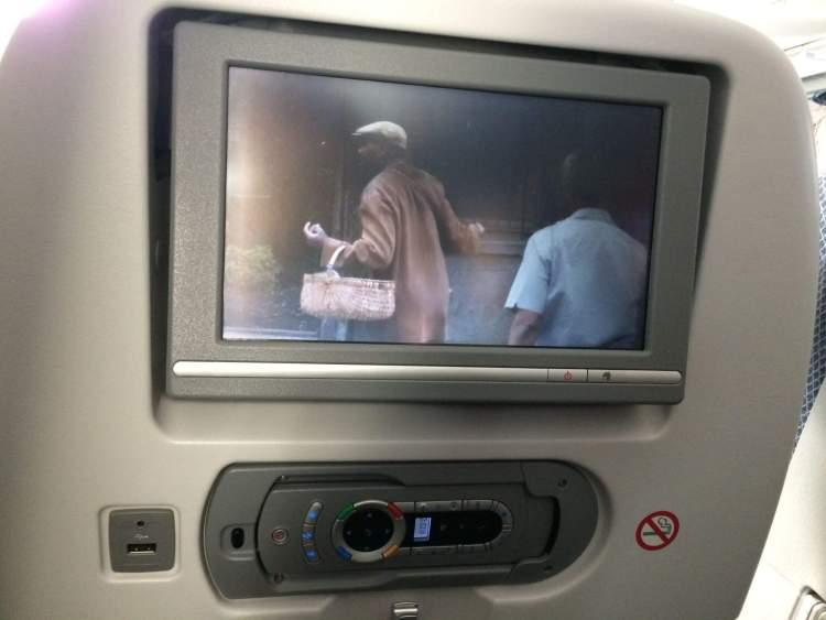 The TV Screen on a BA Flight