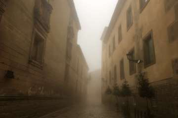 A Foggy Street in Baeza
