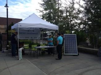 workshop tent at Solarize Southwest