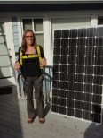 participant with solar panel