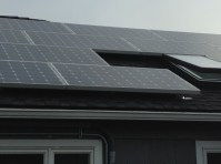 solar panels on roof