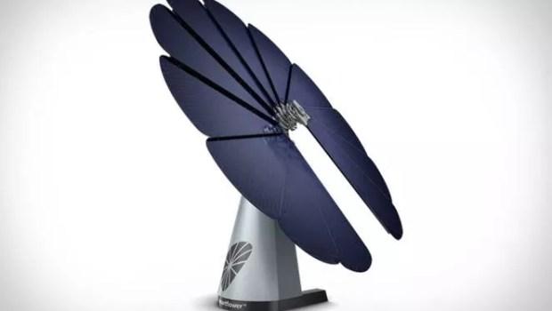 SmartFlower solar array is 40% more efficient that regular solar panels
