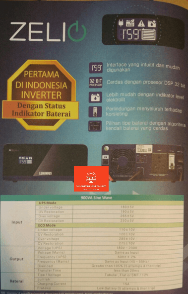 jual Inverter Luminous Zelio surabaya