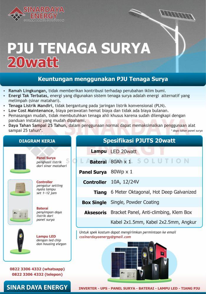 Brosur PJU Tenaga Surya 20 Watt
