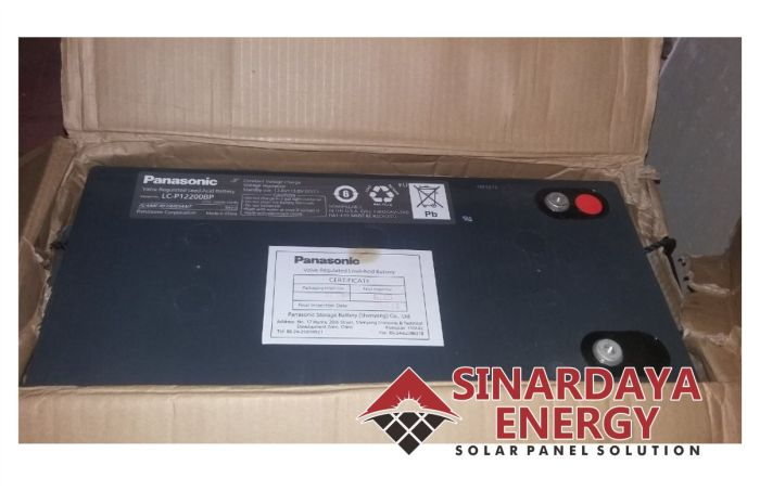 Distributor baterai aki panasonic 12v 200ah VRLA LC-P12200BP-1