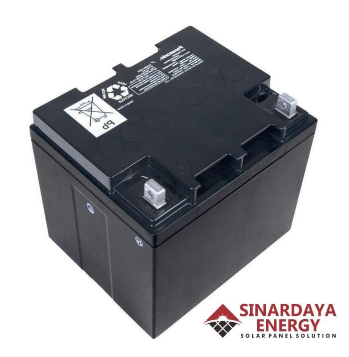 distributor baterai aki panel surya panasonic 12v 28ah original