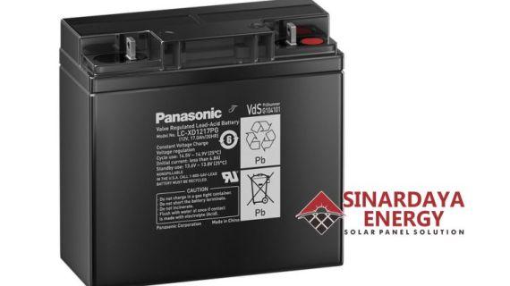 Battery VRLA Panasonic 12V 17Ah | Baterai Aki Kering Panasonic 12v 17Ah