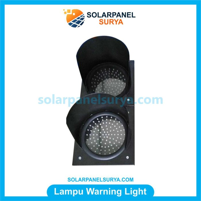 Jual lampu warning light tenaga surya