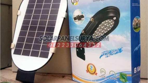 Lampu PJU Solar Cell 8 Watt All In One Fatro | PJU Tenaga Surya AIO Fatro