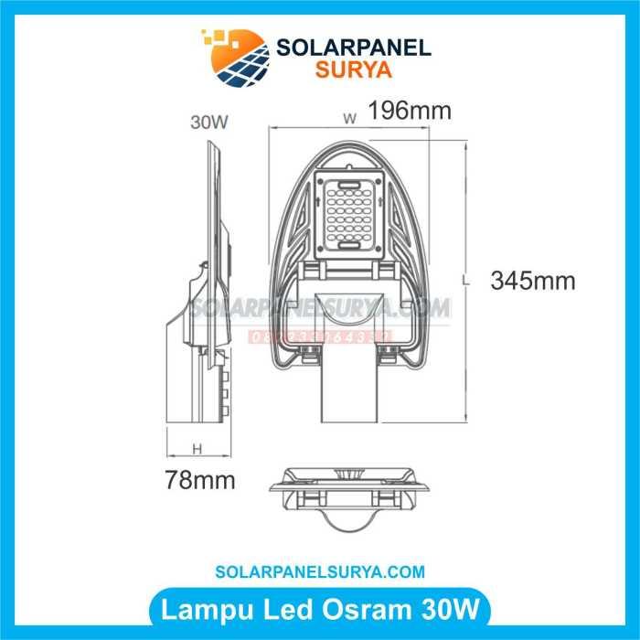 Lampu OSRAM Tenaga Surya 30 watt AC DC