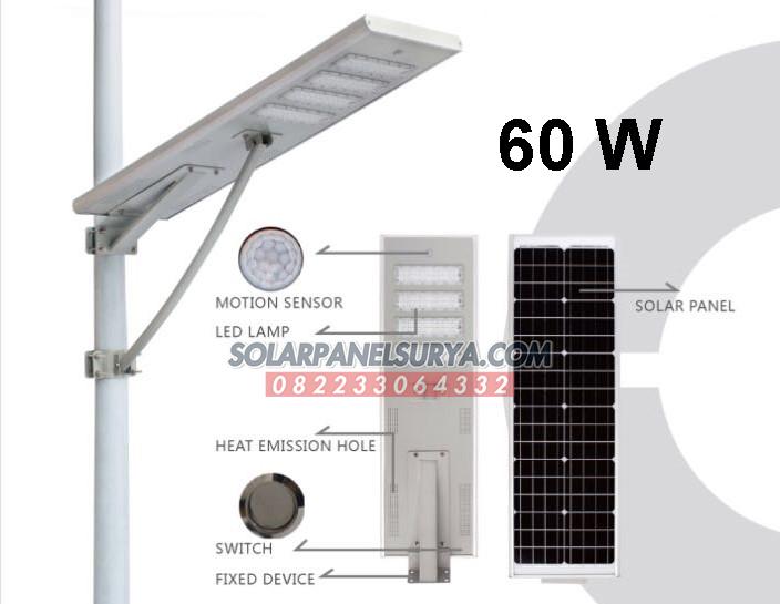 jual Lampu PJU Tenaga Surya All In One 60 Watt Murah Bergaransi