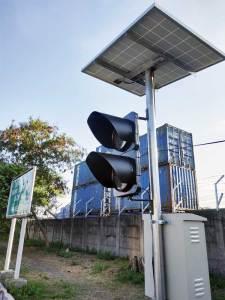lampu warning light solar cell