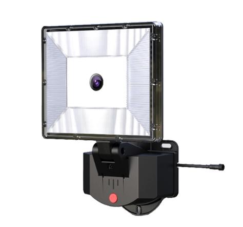 Flood Light with IP Camera - White