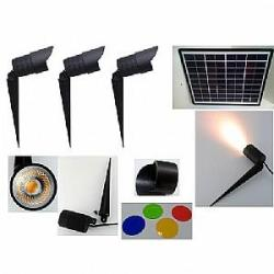 Hi-Output Garden Spot Light Kit with Remote Solar Panel