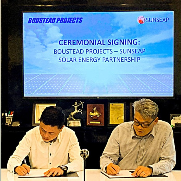 Boustead Projects ties up with Sunseap to install rooftop solar energy systems