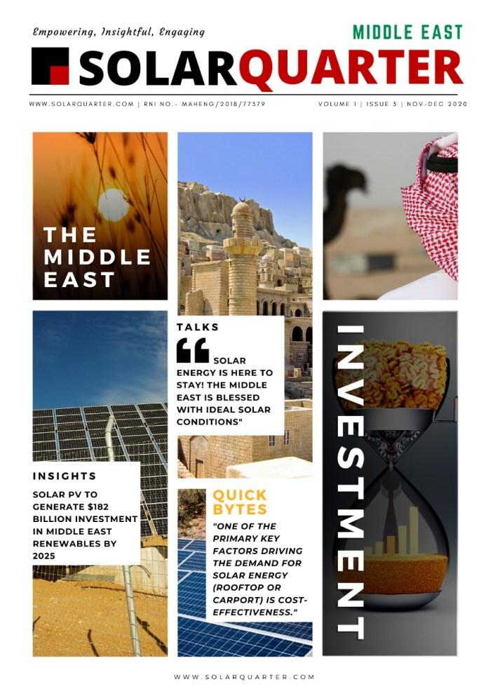 SolarQuarter Middle East Magazine, Nov-Dec 2020 Issue