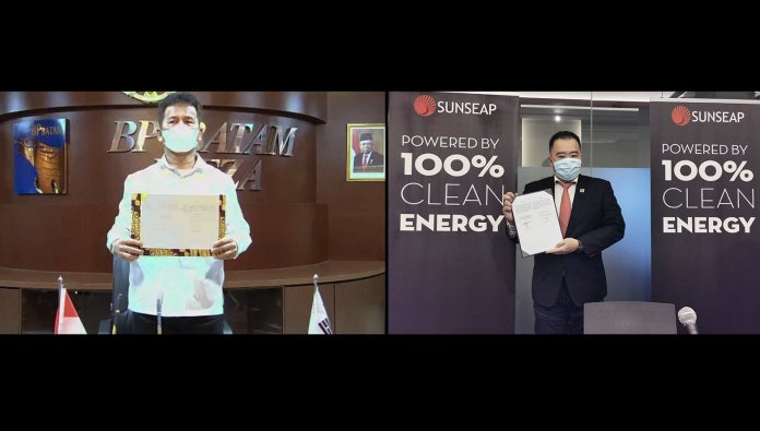 Sunseap & BP Batam Sign MoU To  Build Floating Solar Farm And Energy Storage System