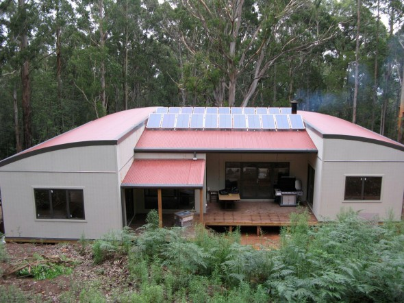 Off grid solar PV system in outer Melbourne
