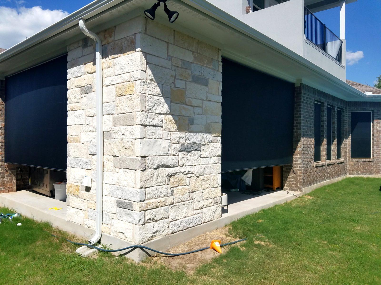 solar window screens and outdoor patio