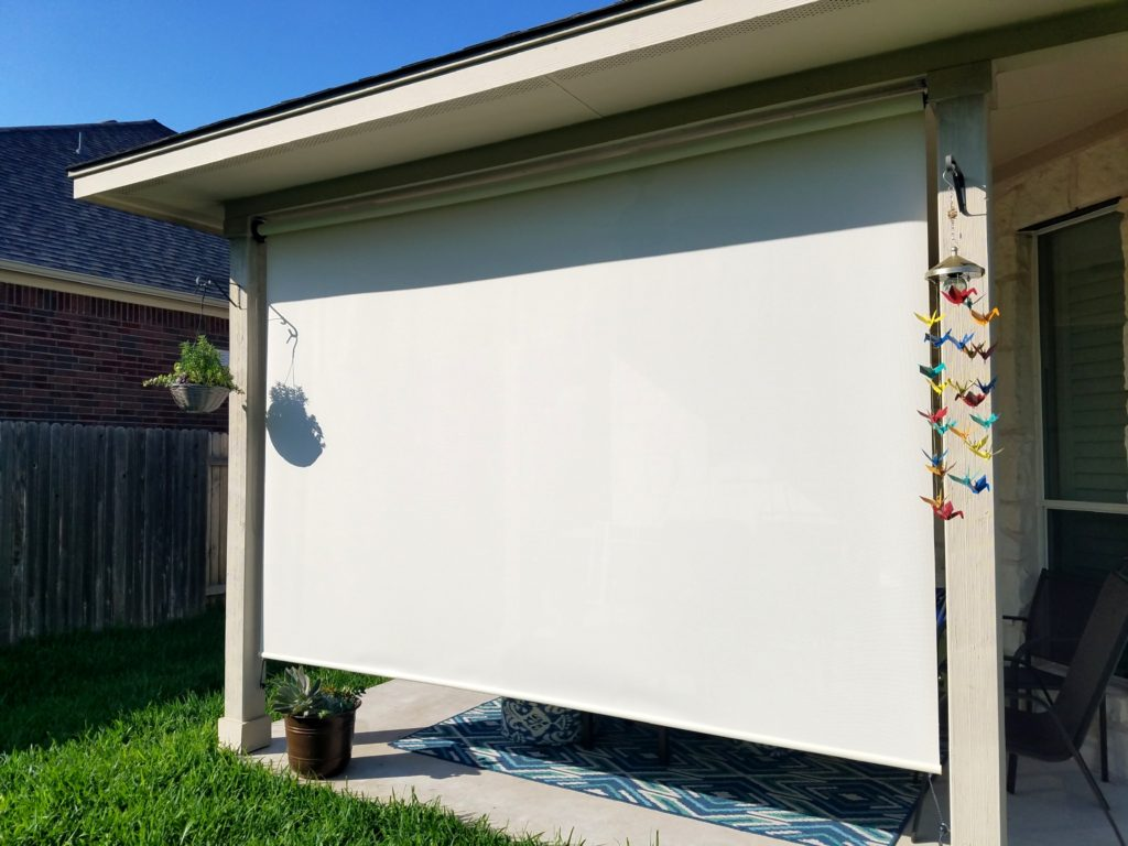 exterior patio roller shades solar