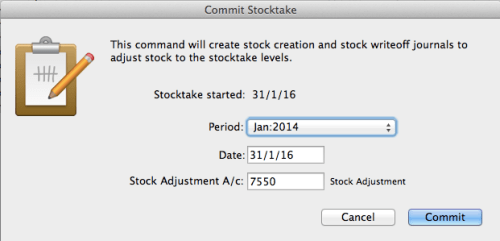 Commit Stocktake