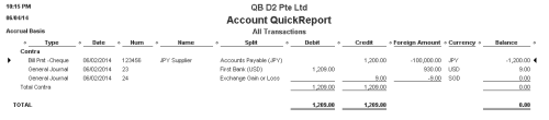 QuickBooks - Transactions