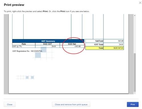 QBO sales invoice issue
